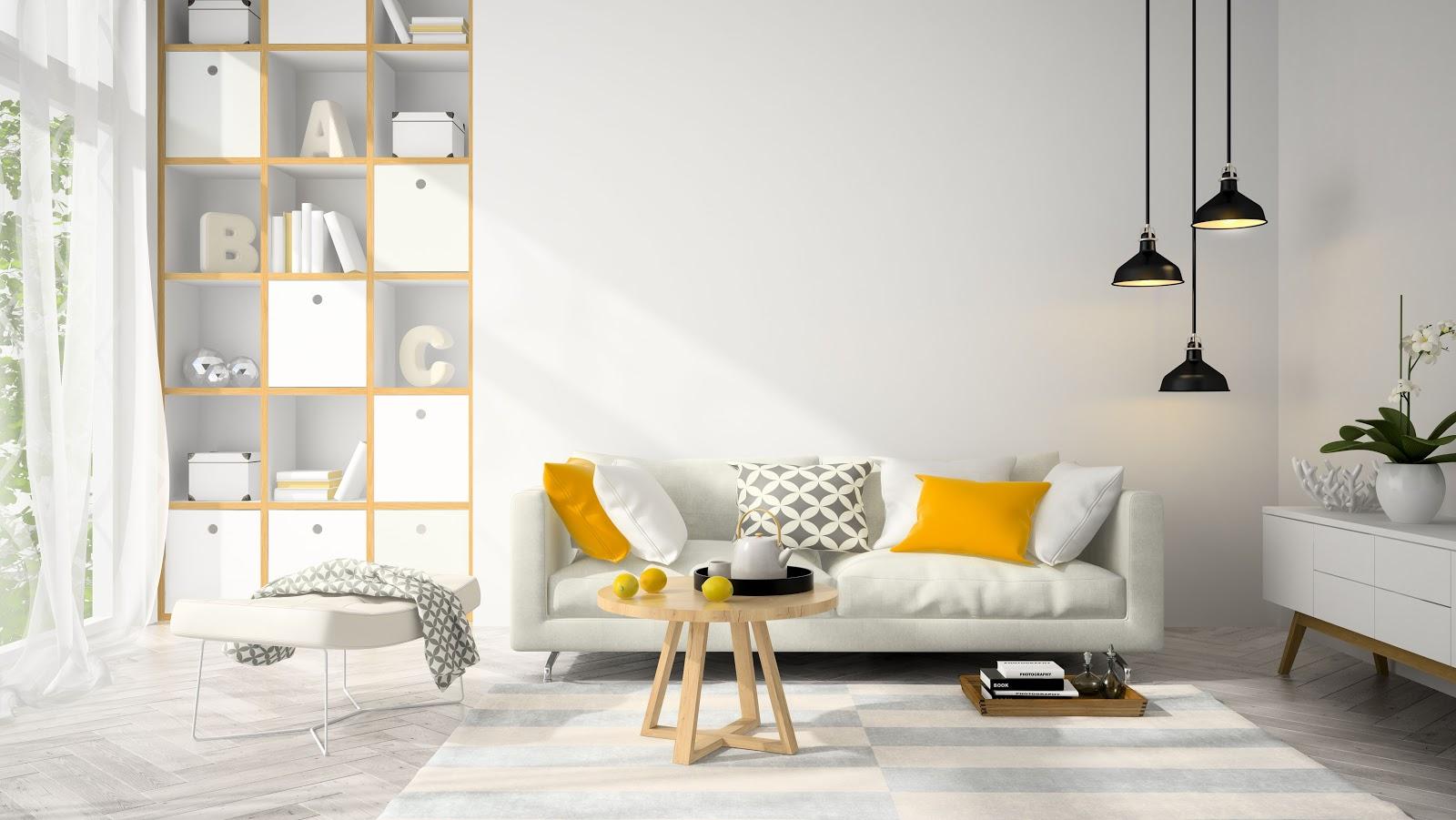 Idei de iluminat in living room
