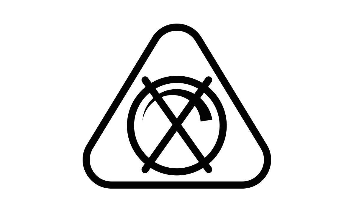 Simbol care arata ca este un bec care NU are putere reglabila