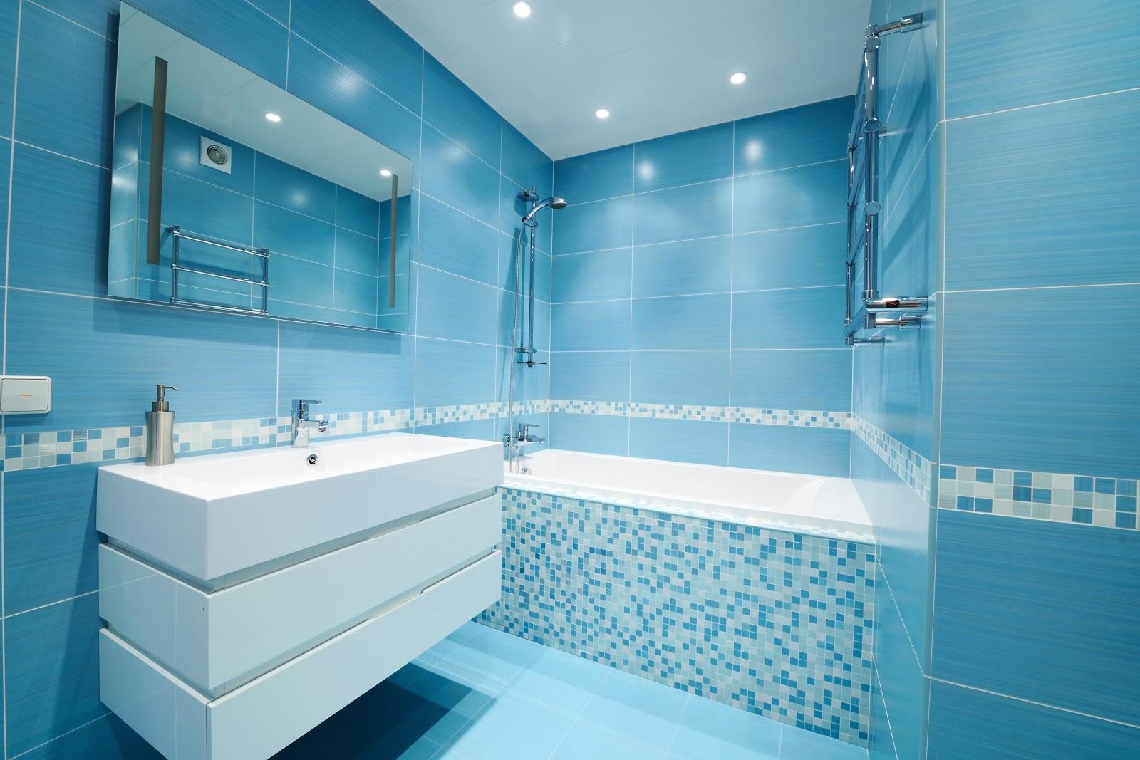 Faianta baie albastru